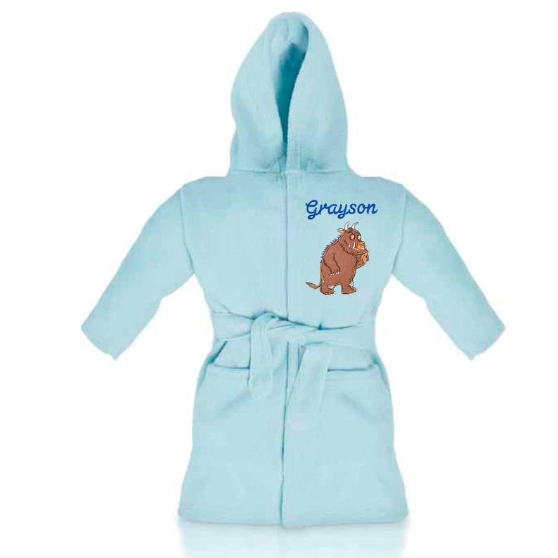 Personalised Embroidered Unisex Kids Fox Hooded Fleece Dressing Gown Available in 6 Sizes 2-3 Years