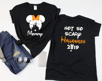 fb35c95c Disney BAT CASTLE Shirts WITH not so scary Halloween 2019 shirts, Disney  halloween shirts, Minnie and Mickey heads,Disney family vacation