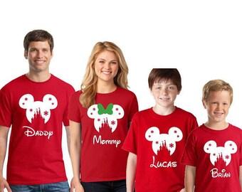 family disney christmas shirts etsy