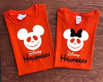 65d45fe7 Disney SKELETON Shirt, Disney halloween shirts, Minnie and Mickey heads, Disney family vacation shirts, Mickey not so scary Halloween shirts