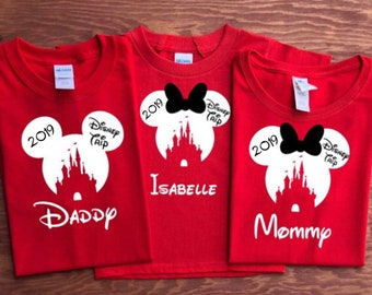 1194d35f0f6b 2019 Disney CASTLE with Disney Trip Family Vacation shirts, Disney Family  Shirts,Disney Trip shirt, Family Disney Shirts,READ DESCRIPTION!!!
