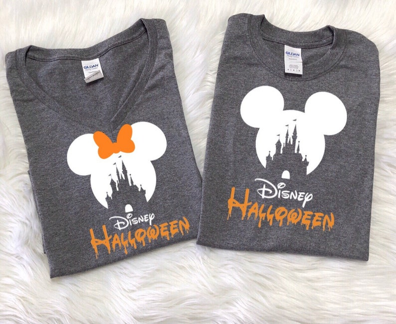 Disney CASTLE Shirts, Disney halloween shirts, Minnie and Mickey  heads,Disney family vacation shirts, Mickey not so scary Halloween shirts