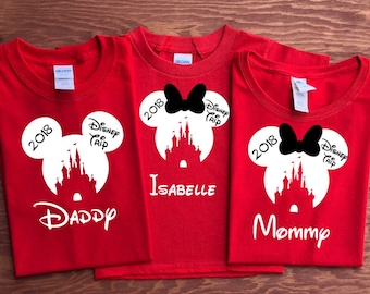 Disney CASTLE with Disney Trip Family Vacation shirts, 2018 Disney Trip shirt, Disney family shirt, Family matching shirts, Disney inspired