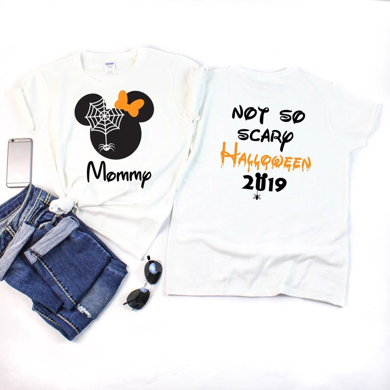 Disney Halloween Shirts Etsy.Disney Spider Shirts With Not So Scary Halloween 2019 Shirts Disney Halloween Shirts Minnie And Mickey Heads Disney Family Vacation