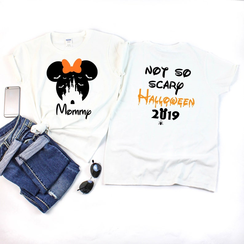 Disney Halloween Shirts 2019.Disney Bat Castle Shirts With Not So Scary Halloween 2019 Shirts Disney Halloween Shirts Minnie And Mickey Heads Disney Family Vacation