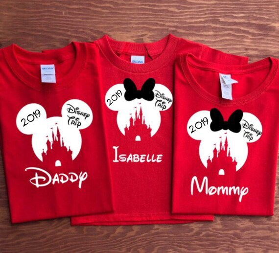 2019 Disney CASTLE With Disney Trip Family Vacation Shirts