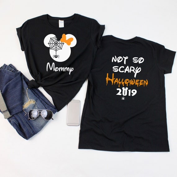 Disney Halloween Shirts Etsy.Disney Spider Shirts With Not So Scary Halloween 2019 Shirts Disney Halloween Shirts Minnie And Mickey Heads Disney Family Vacation Shirts