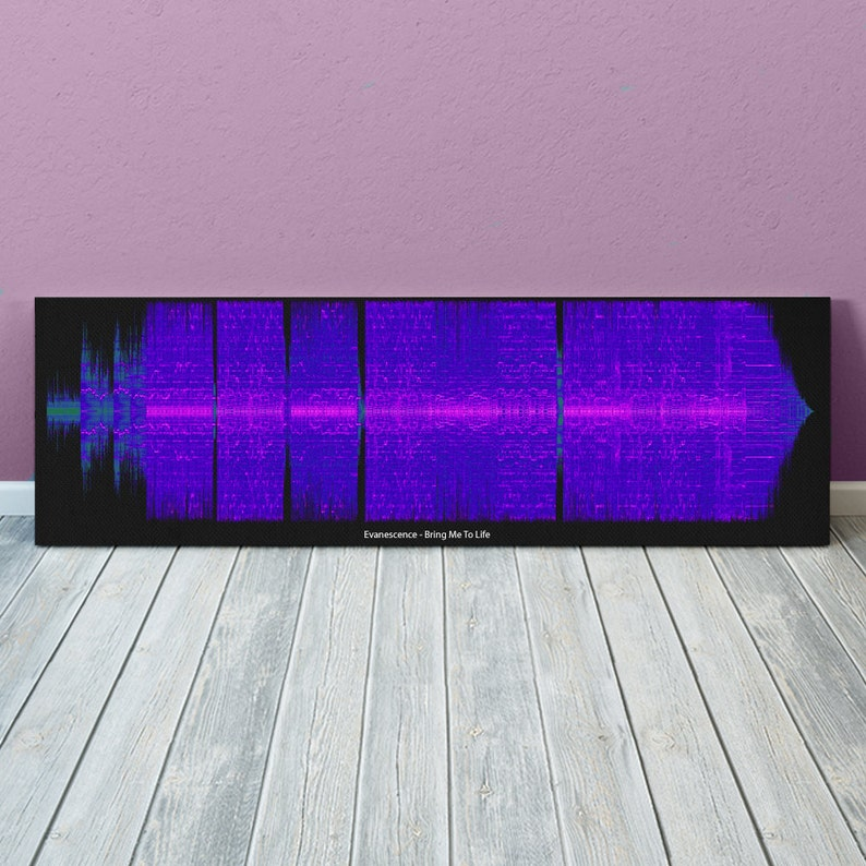 Evanescence - Bring Me To Life Sound Wave Art - Unique Canvas, Poster or  Digital Image - Free P&P