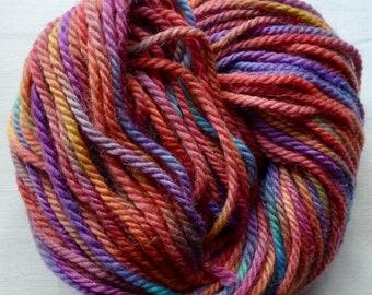 HAND-DYED WOOL/Alpaca Yarn - Aran Weight