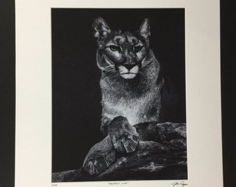 245e7c828465 Mountain Lion Charcoal Drawing