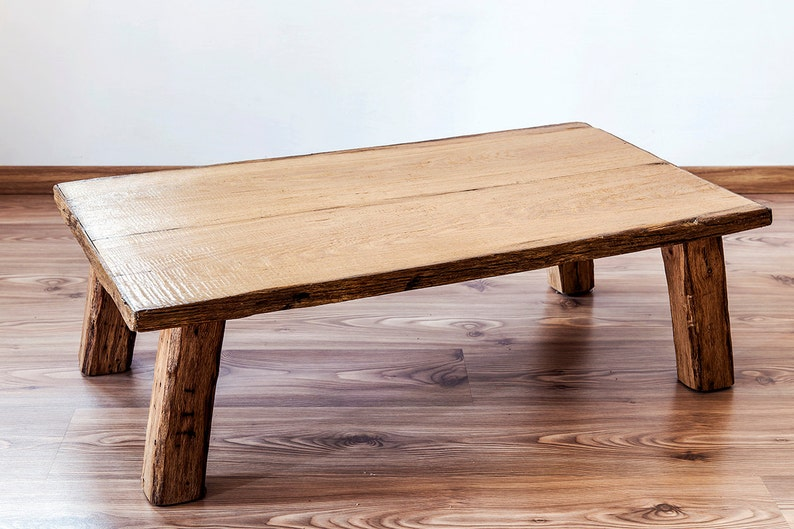Massif Chene Table Basse Meubles Design Rustique Country Style