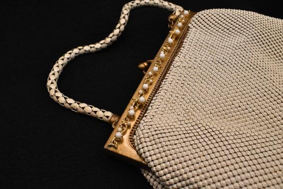 Vintage Whiting & Davis White Mesh Handbag/Purse