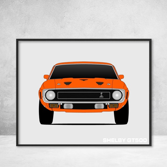Shelby GT500 1969 Poster / Ford Mustang / Shelby Cobra / | Etsy