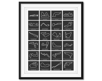 Formula 1 Race Track F1 Circuit 2021 Poster Print Wall Art BX1
