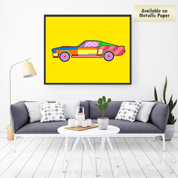 Ford Shelby 1967 GT500 Mustang Eleanor Britto Style Pop Art | Etsy