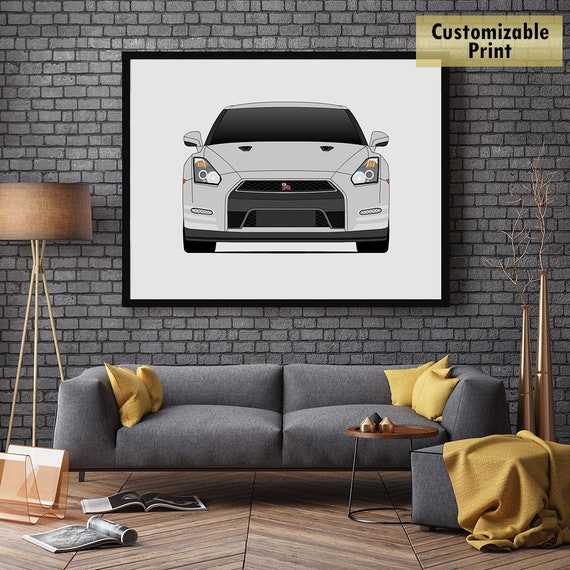 NISSAN GTR EVOLUTION A4 POSTER SKYLINE FAST CAR SPEED RETRO WALL