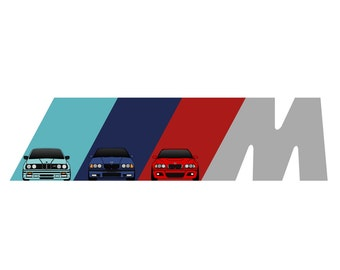 BMW E30 E36 E46 M Power // BMW Early M3 Generations Art
