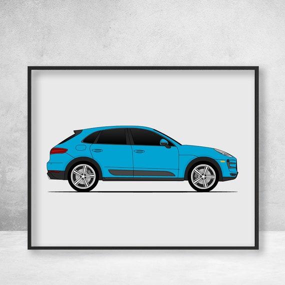 Porsche Macan Turbo S Poster Side View / Type 95B / Macan GTS / Porsche  Poster / Porsche Print / Porsche Art / Porsche Decor / Porsche / C1