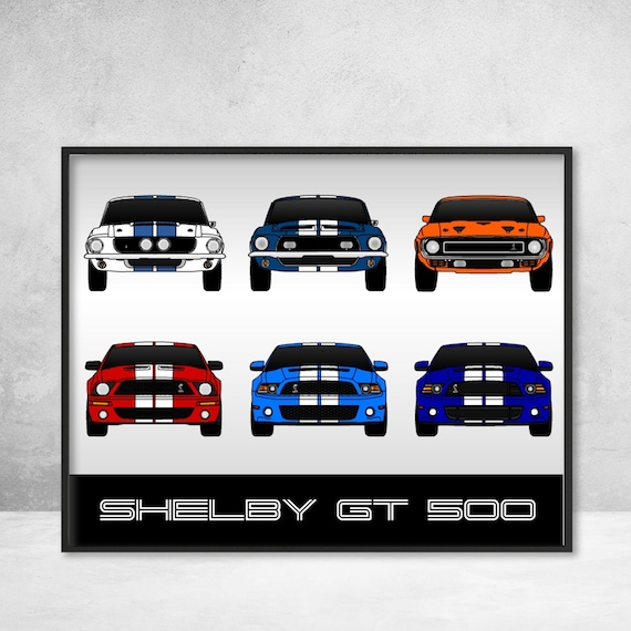 Mustang Shelby GT500 Poster / Ford Mustang Print / Ford Poster | Etsy
