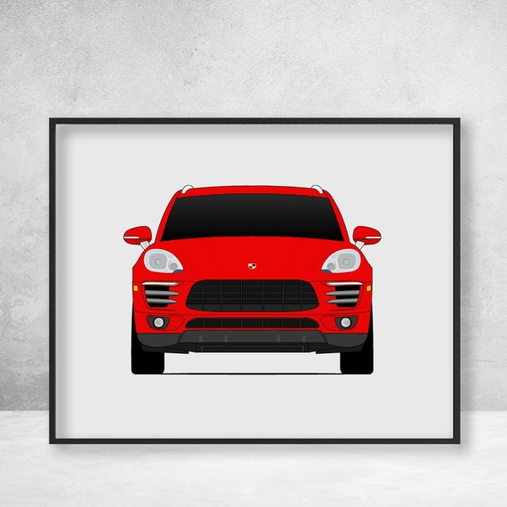 Porsche Macan Turbo S Poster / Type 95B / Macan GTS / Porsche Poster /  Porsche Print / Porsche Art / Porsche Decor / Porsche C1