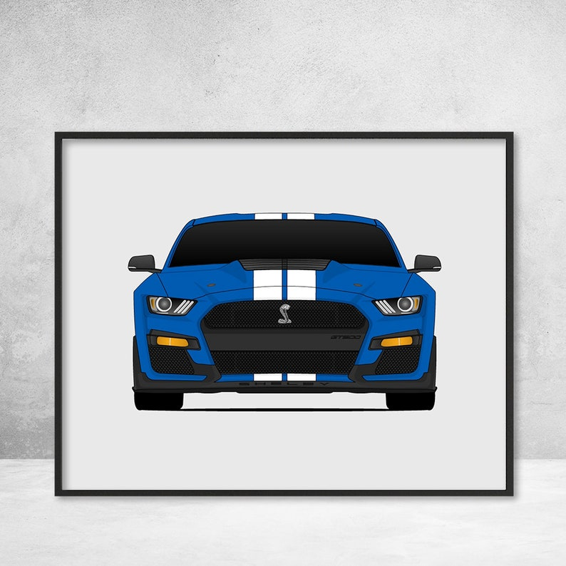 2449c4dc6 2020 Shelby GT500 S550 Ford Mustang Poster Print Wall Art