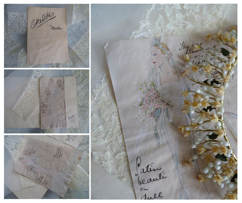 Art Deco bridal crown English 1950s Ancienne couronne de mariee en cire Vintage wax flowers tiara Something old Corona de cera antigua