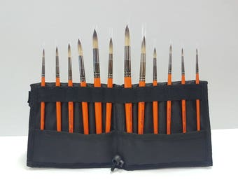 Proffisional Set of 12 pcs of painting brushes with bag