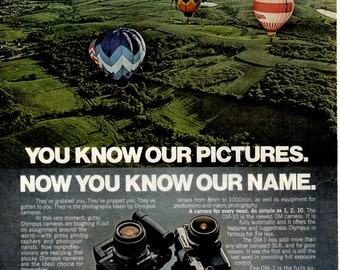 """1970s Olympus 35mm SLR camera """"You know our pictures""""  1708"""