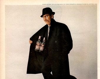1965 Smirnoff vodka with Groucho Marx vintage magazine ad wall decor  (LG)