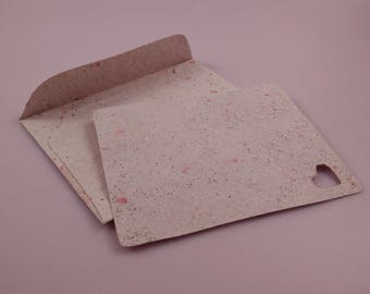 PLANTABLE PAPER note card & envelope / recycled seeded paper / handmade paper / wildflower seeds / plant me / eco friendly zero waste gift