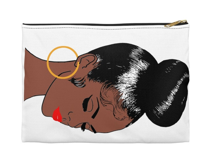 Featured listing image: Black Woman Top Knot Hair Style Purse