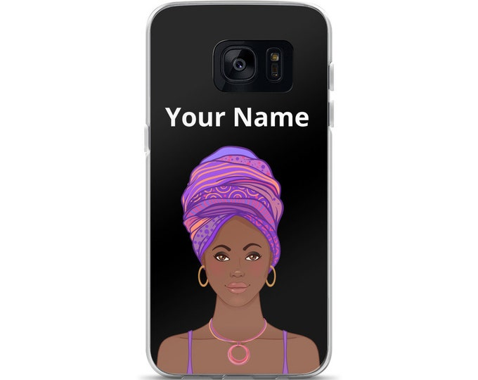 Featured listing image: Personalized, Black Woman, African Woman, African American Woman, Natural Black Woman, Samsung Case