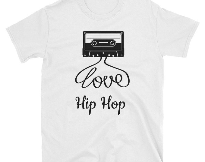 Featured listing image: Love Hip Hop, Cassette, Rap, Black Culture, Black History, Short-Sleeve Unisex T-Shirt