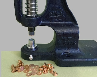 Hand-Press and Die for Punch through Rivet