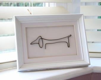 Daschund Birthday gift, Sausage dog gift, Daschund friend gift, Minimalistic sausage dog gift, Dog lover gift, Unique Daschund gift,Dog gift