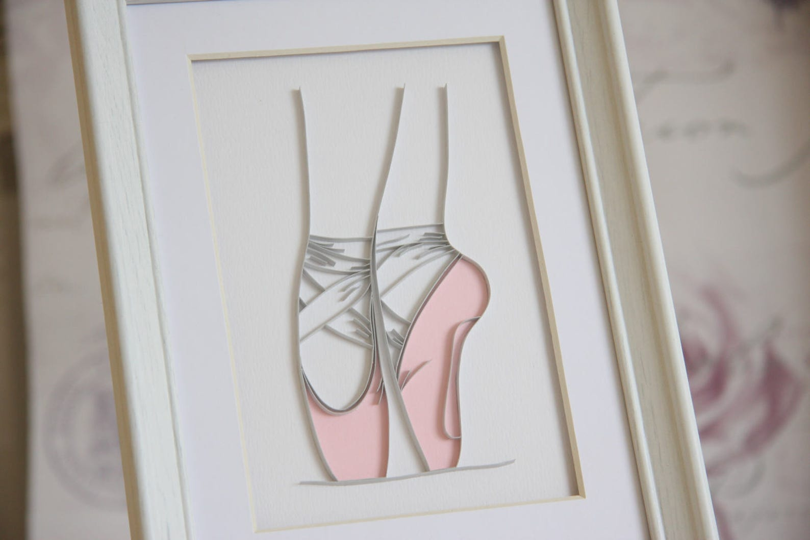 ballerina gift, quilling paper art, ballet nursery wall art, ballerina wall art, ballet dancer gift, ballet shoes decor, ballet