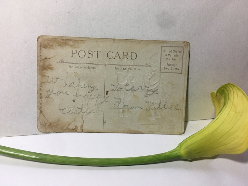 Charming Vintage SpringEaster Postcard early 1900s free shipping