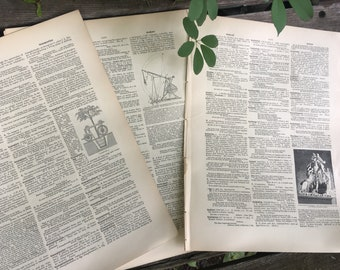 Large Vintage Dictionary Pages (25)