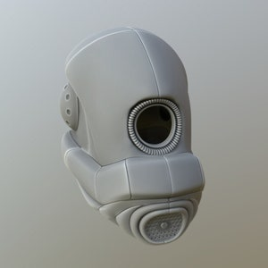 Roblox Combine Elite Helmet 3d Model Stl Combine Elite Soldier Helmet Video Game Prop Etsy