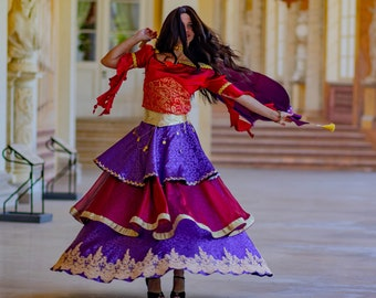 Esmeralda dress - Esmeralda cosplay - Esmeralda costume - Disney inspired Esmeralda Midnight Masquerade dress - Esmeralda doll costume