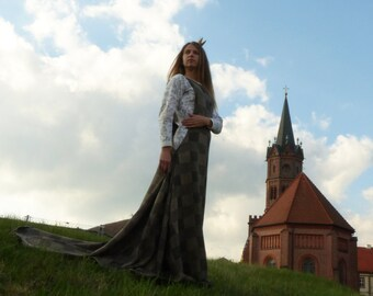 Medieval dress - Historical costume - XIV century costume - Sideless surcoat - reenactment dress