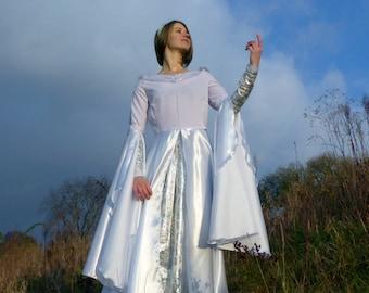 Galadriel dress - Arwen dress - White Elvish Wedding Dress - Fantasy dress - Pre-Raphaelite dress - Bridal fairy costume