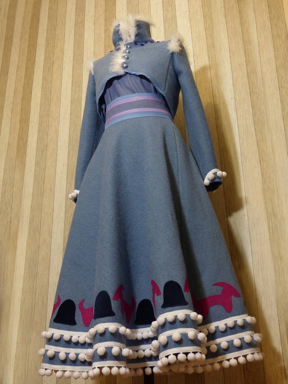 Olaf's Frozen Adventure Anna costume Anna blue dress | Etsy