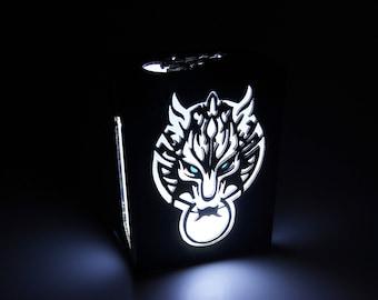 videogame geek Light box of Final Fantasy decoration home decor Lamp Chocobo LED candle. Cactuar illumination Game Cloud wood