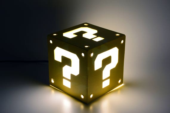 Lampe Block Question A Super Mario Bros Lumiere Ambiante Etsy