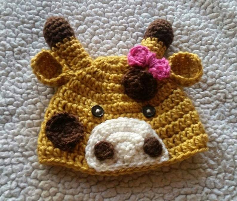 Crochet Giraffe Hat Animal Hat Baby Gifts Handmade Gift Etsy