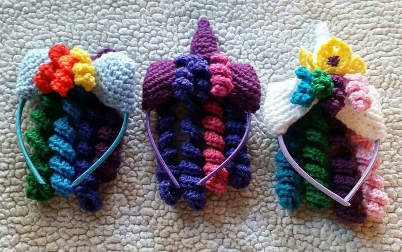 Crochet My Little Pony Headbands MLP headbands girls  c45cf0a6a53