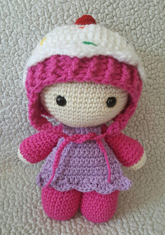 Crochet Cupcake Big Head Doll Big Head Dolls Cupcake Doll Etsy