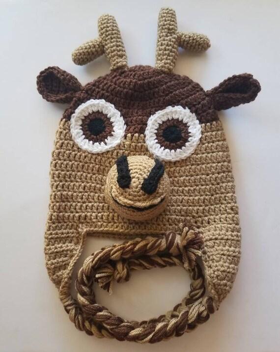 Crochet Sven hat crochet reindeer hat crochet Frozen hat  8a8cdec953a