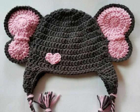 Crochet Elephant hat crochet animal hat elephant hat  f3d86b95d92